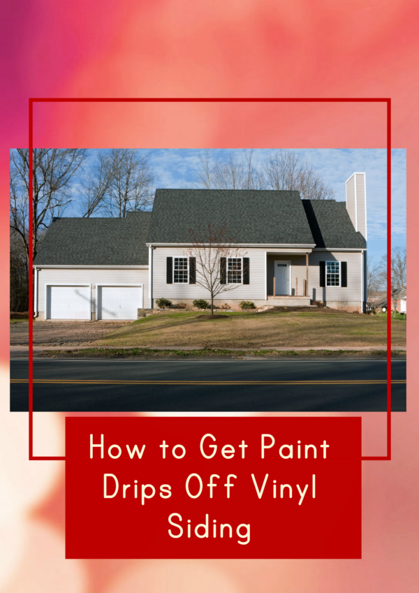 If you or someone else painted your deck, porch, doors or window frames, you might have paint drips on your vinyl siding. Here are some methods I tried to remove it.