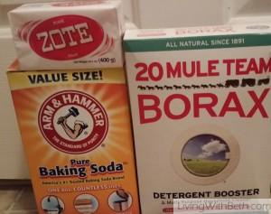 Make your own laundry detergent or dish detergent!
