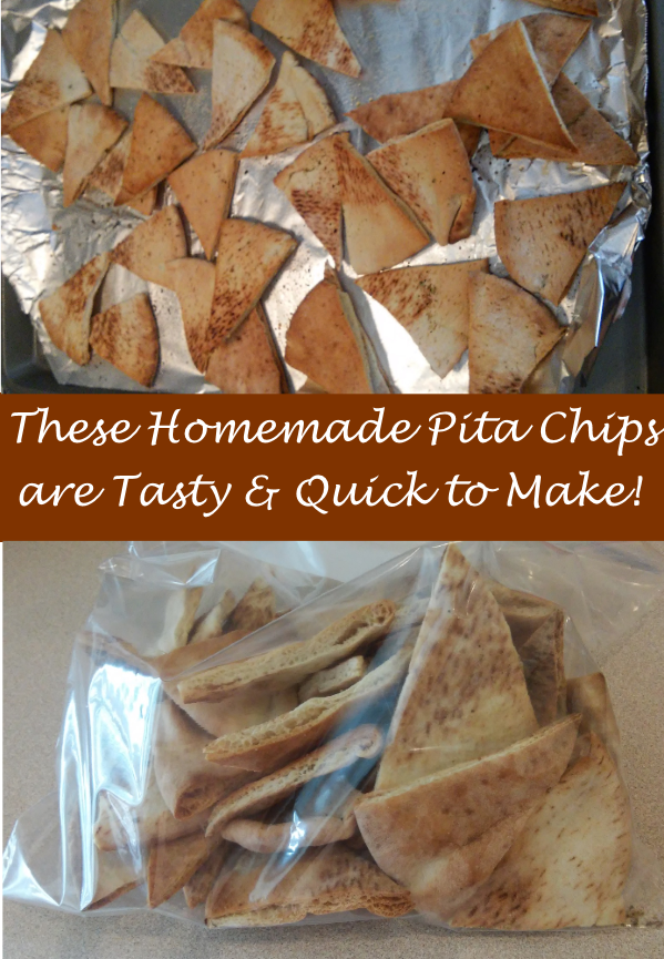 Make These Delicious Homemade Pita Chips in Just a Few Minutes! Kids Can Help, Too!