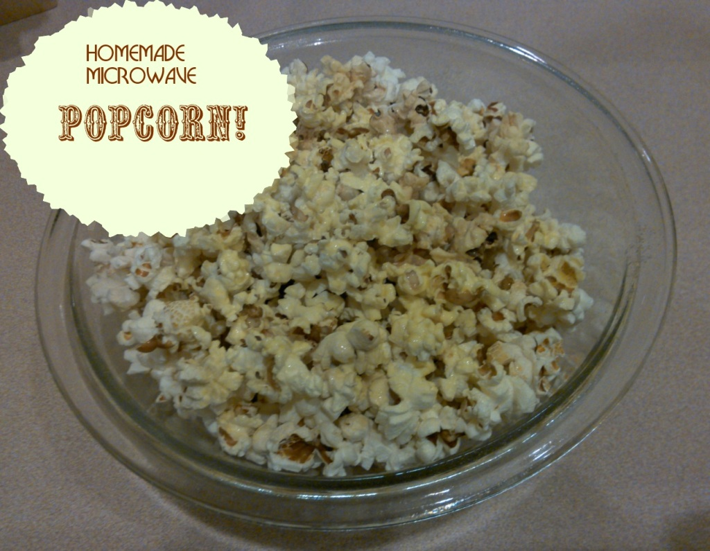Homemade Microwave Popcorn Recipe - YUM!!!