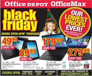 Office Depot Black Friday sale