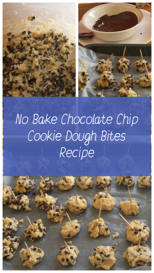 No Bake Chocolate Chip Cookie Dough Bites Recipe
