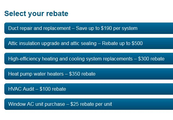 Secret power company perks: Get rebates on appliances, HVAC, A/C, heat pumps, etc.