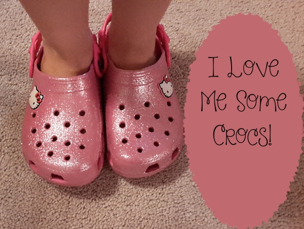 crocs review pink glitter hello kitty