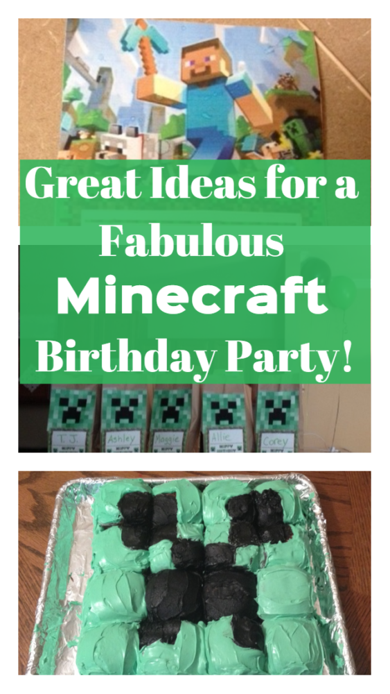 Get some great Minecraft party ideas from a fun and creative Minecraft birthday party, including invitations, decorations, goody bags, food and more.
