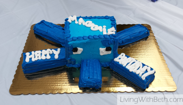 Another birthday, more Minecraft party ideas: Squid cake