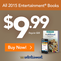 All Entertainment coupon books on sale for $9.99 through 5/31