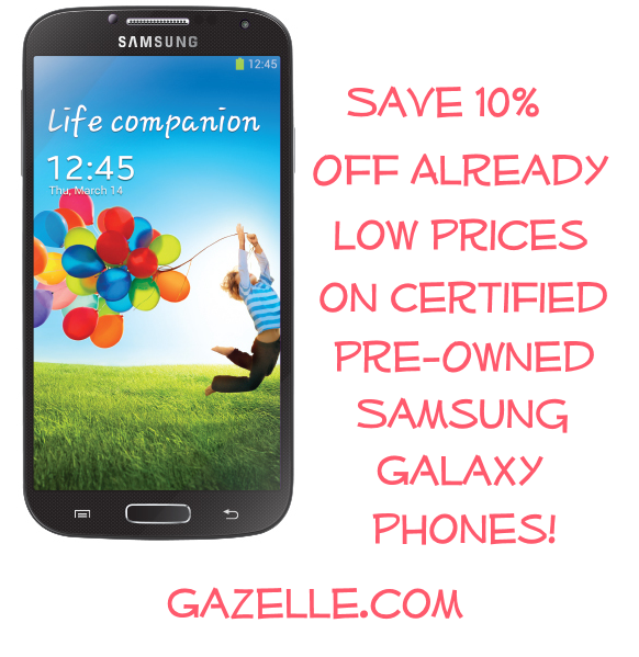 Exclusive Gazelle coupon code for Samsung Galaxy phones