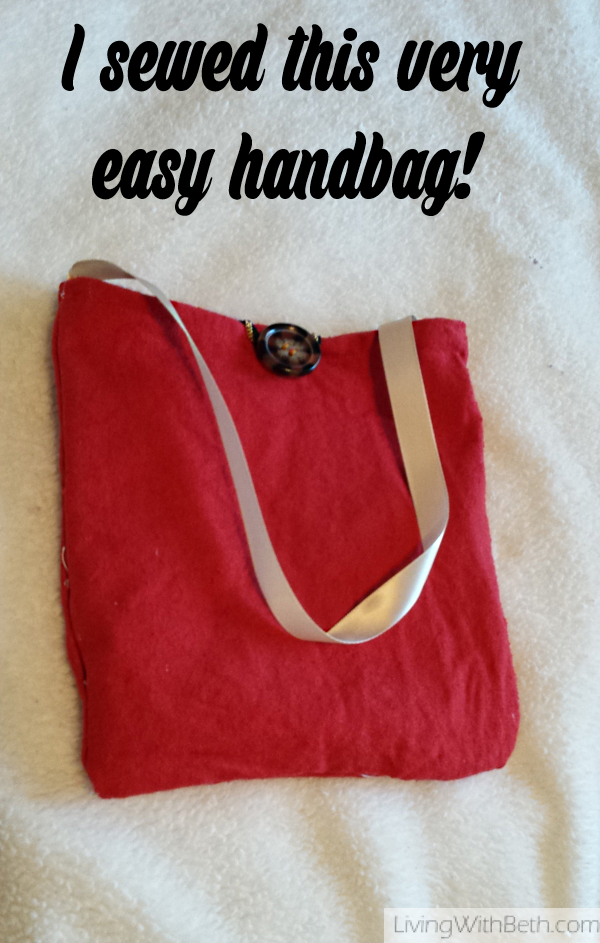Look what I made! I sewed a handbag from these instructions