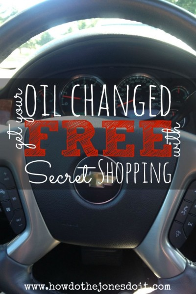 Get Your Oil Changed Free with Secret Shopping!