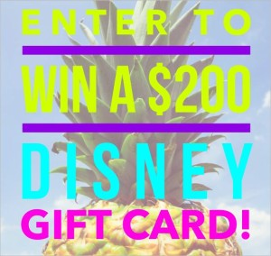 Blog Giveaway: Win a $200 Disney Gift Card!
