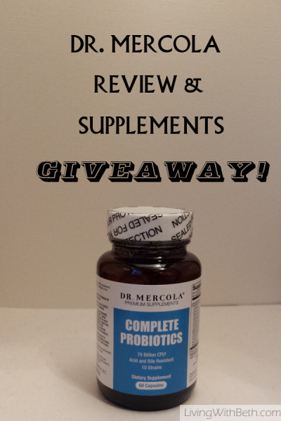 Dr. Mercola review & giveaway: Win probiotics & silver hydrosol ends 8/15