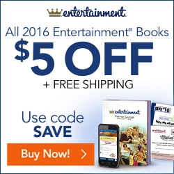 Save $5 Plus FREE Shipping on Entertainment Coupon Book 2016