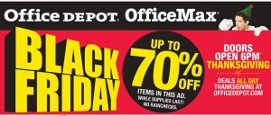 Office Depot and Office Max Black Friday Ads