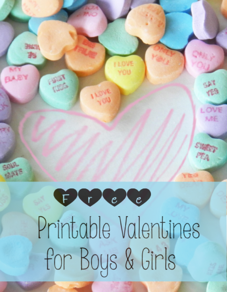 List of Free Printable Valentines for Girls and Boys