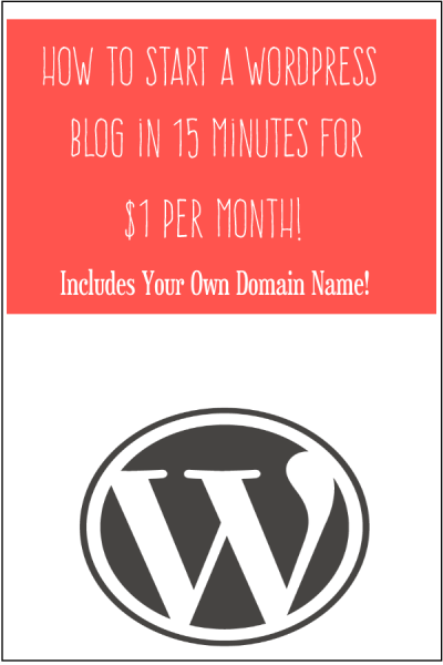 How to Start a WordPress Blog in 15 Minutes for $1/Month