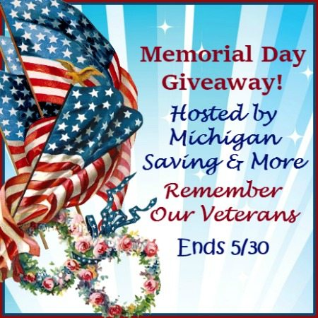 Memorial Day Blog Giveaway Ends 5/30