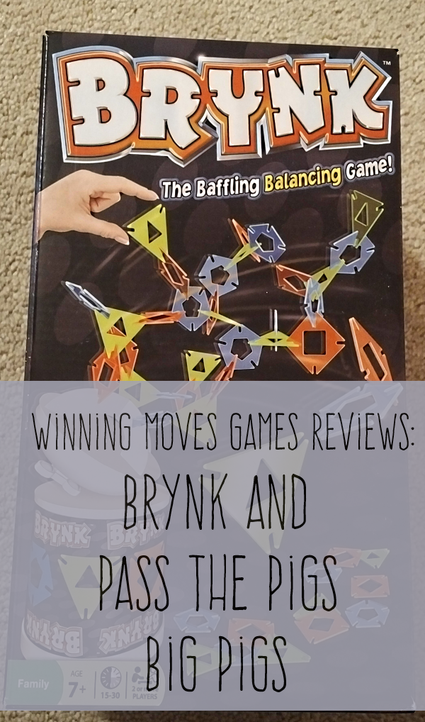Winning Moves Pass the Pig Big Pigs and Brynk Games Reviews