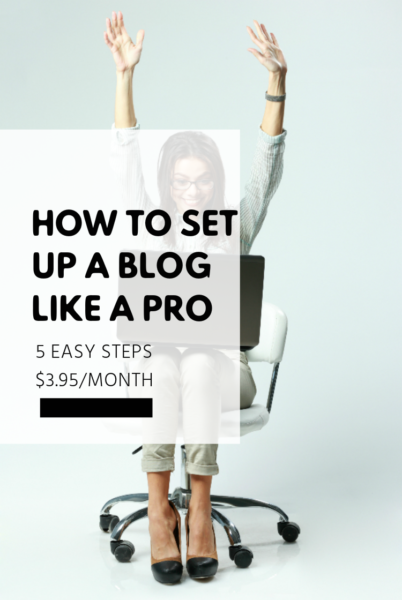 You can set up your own blog without any tech skills. Start today in 5 easy steps!