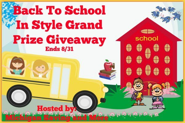 Back to School in Style Grand Prize Giveaway Ends 8/31