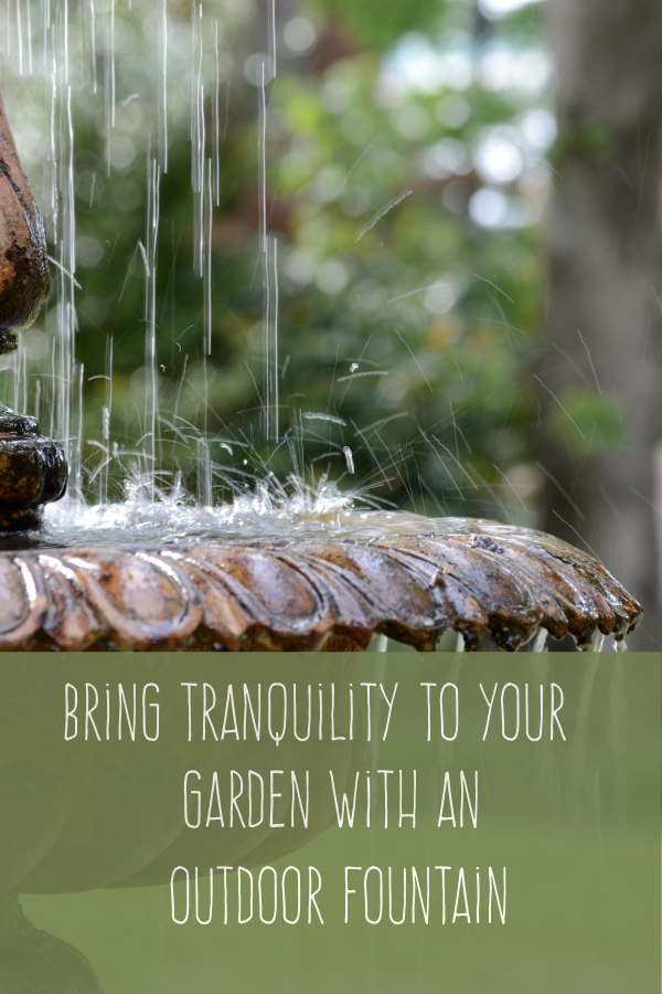Outdoor Water Features Bring Tranquillity to Your Garden