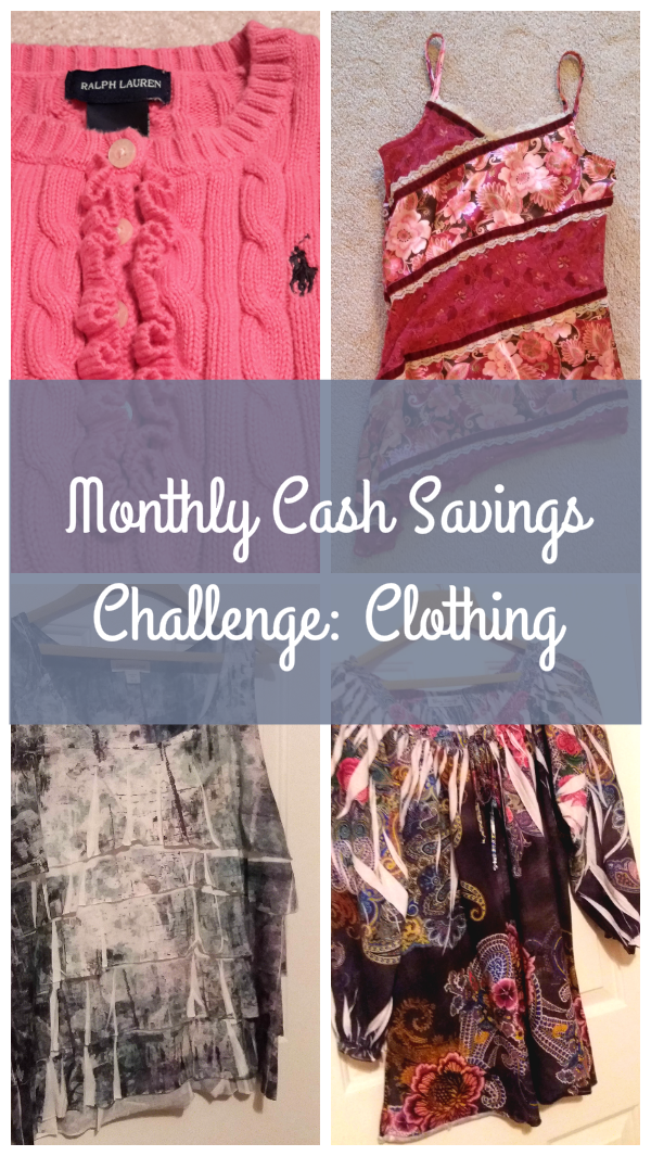 Monthly Cash Savings Challenge for September: Clothing