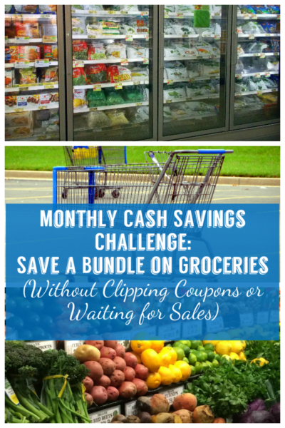 Monthly Cash Savings Challenge: Save a Bundle on Groceries