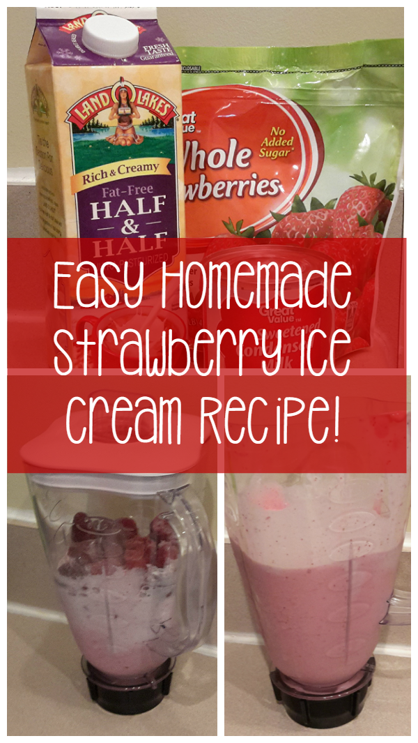 Easy Strawberry Ice Cream From Your Blender