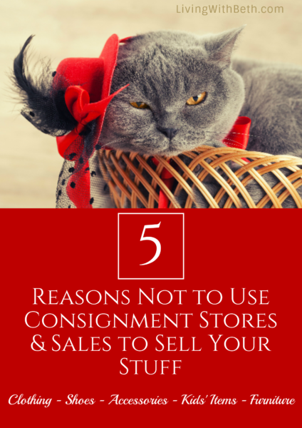 Are you considering consignment stores or sales to sell your stuff? Here are 5 reasons to think twice about going that route.