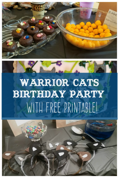 Does Your Kid Love Warrior Books? Have a Warrior Themed Birthday Party! Find Photos, Ideas and Free Printable Here!