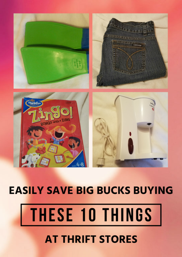 You can easily save a bundle buying many of the things your family needs at thrift stores. Here are 10 things you should never pay full price for again!