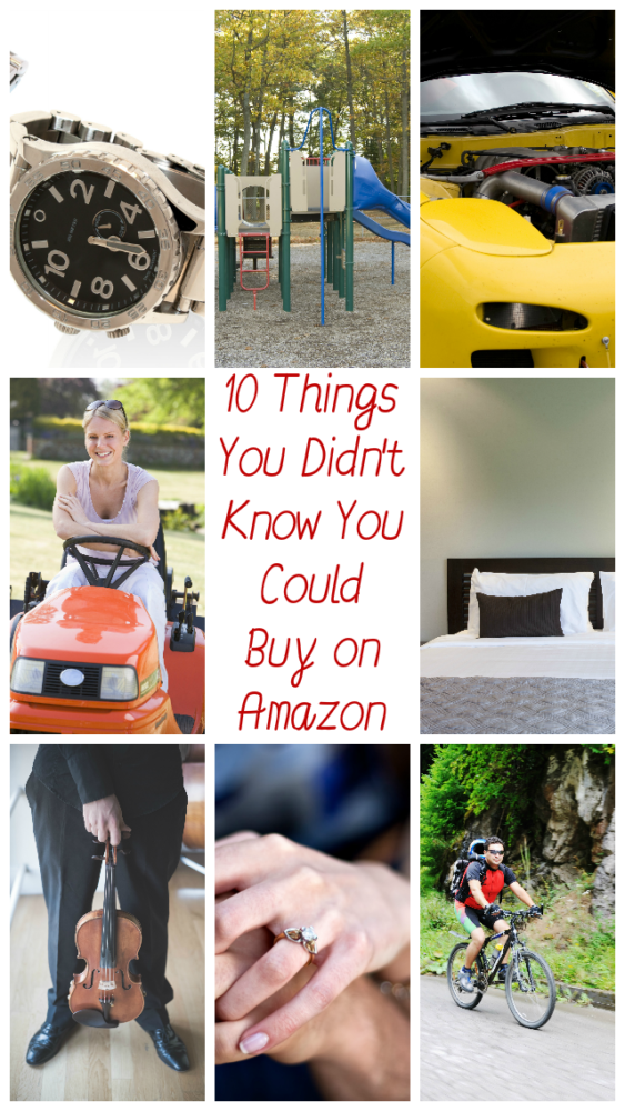 Amazon has grown to become the place where you can buy almost anything under the sun. Here's a list of 10 things that you might not know you can buy there.