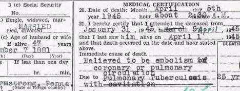 Some of the most common causes of death from 100+ years ago may shock you.