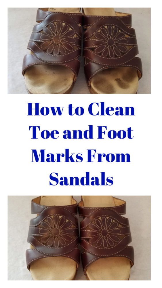 Nothing decreases the looks and value of slip-on sandals like toe, heel and foot marks on the insoles. Here's how to remove them.