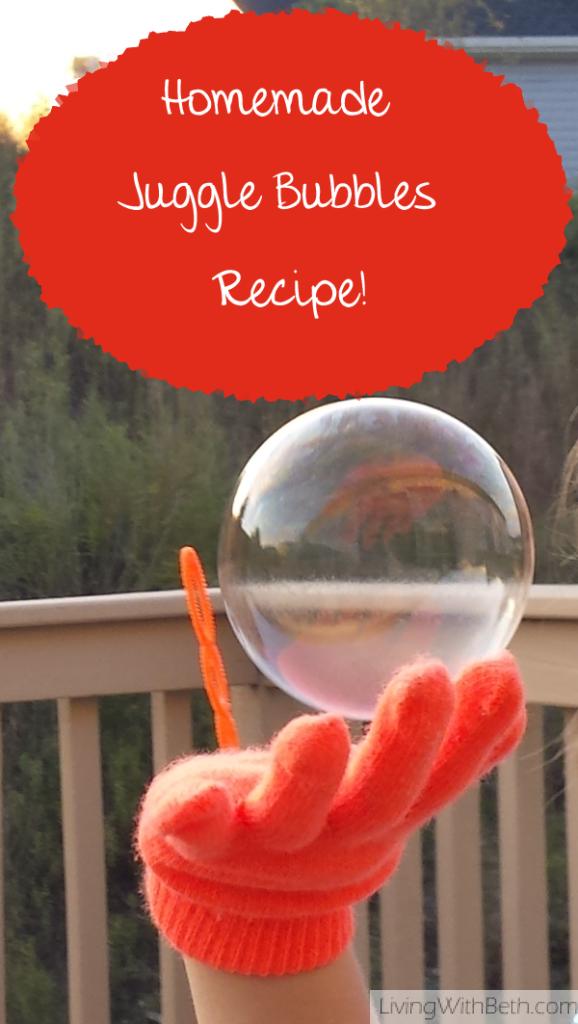 Homemade Juggle Bubbles Recipe!