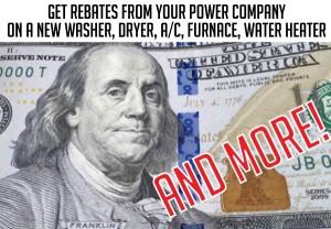 Secret power company perks: Get rebates on appliances, HVAC, A/C, heat pumps, etc.