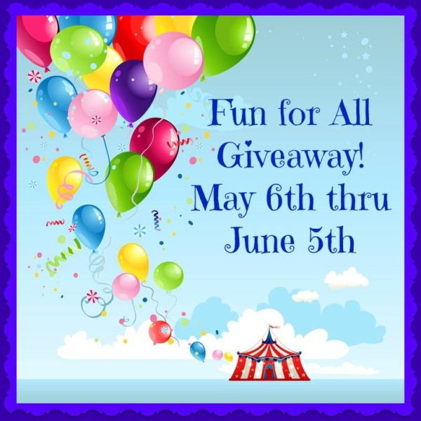 Fun for all Giveaway, multiple prizes and winners, ends 6/5 #FFA0515