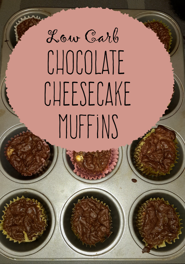 Easy chocolate cheesecake muffins: Low carb meal or snack