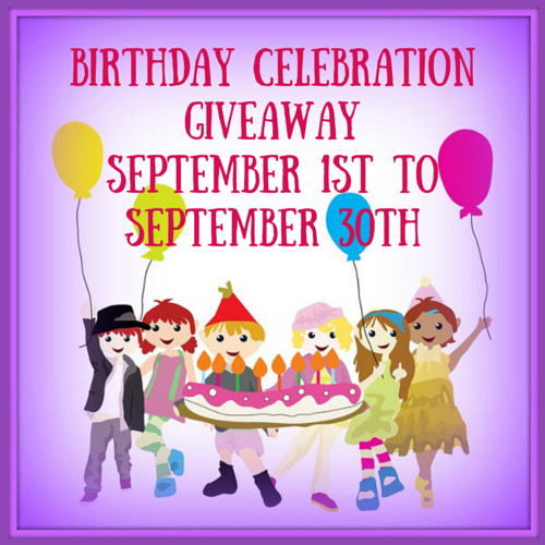 Birthday Celebration Giveaway Ends 9/30 #BCG915 @las930