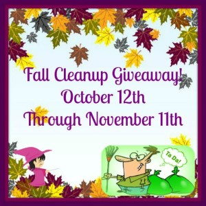 Fall Cleanup Blog Giveaway Ends 11/11