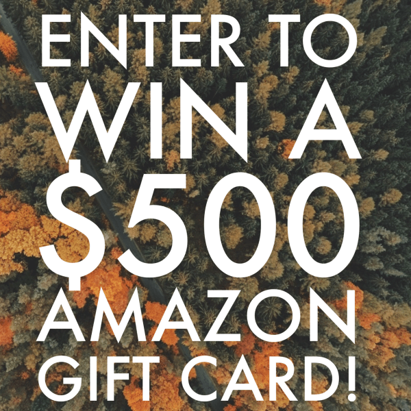 Win $500 Amazon Gift Card Giveaway