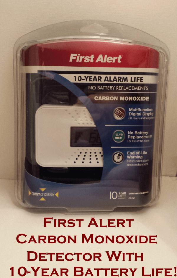 first alert carbon monoxide detector review 10year battery life - First Alert Carbon Monoxide Detector