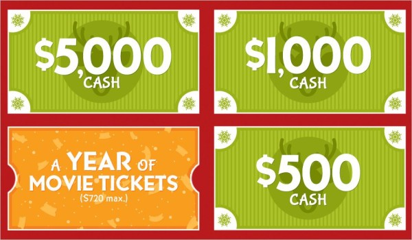 Win Free Movie Tickets or Cash Prizes from Fandango, Giveaway Ends 12/31