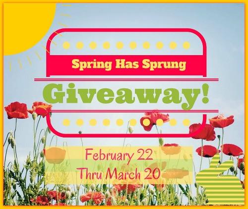 Spring Has Sprung Blog Giveaway Ends 3/20 @las930 #SHS316