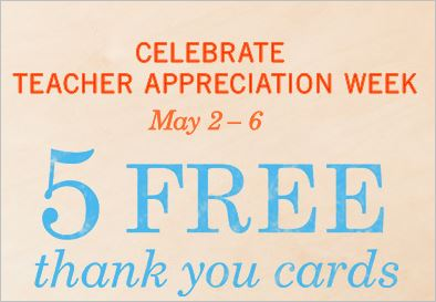 HURRY! 5 Free Thank You Cards + 50% Off Additional Ones