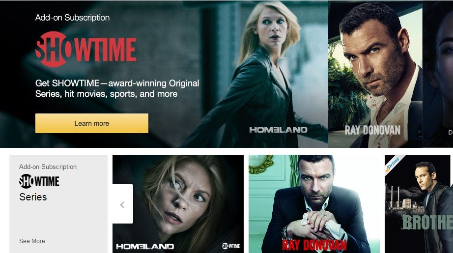 Amazon Offering Free Trials of Streaming Showtime, Starz