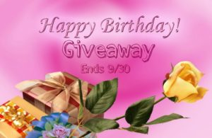 Happy Birthday Giveaway 2016 - Ends 9/30