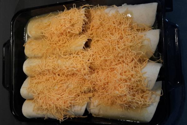 Easy Rice and Bean Enchiladas Recipe