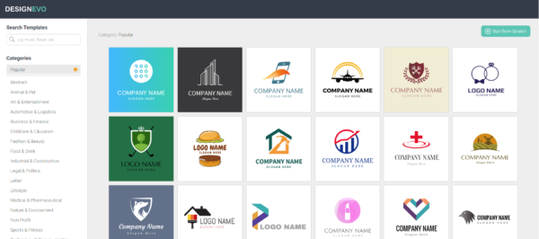 Review: DesignEvo lets you design logos for your company, team or organization on the fly at a low cost, without having to hire a marketing or graphics firm.
